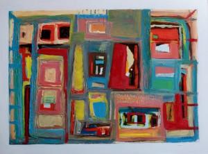 Acrylique et huile sur papier marouflé sur toile - 70*50cm